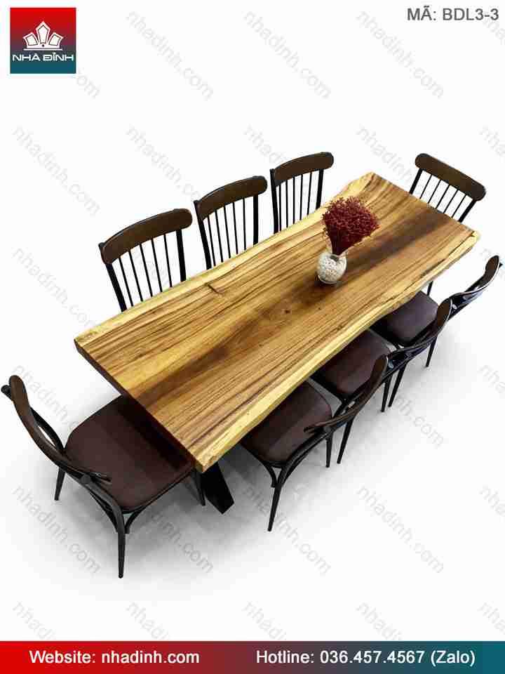 Bộ bàn ăn gỗ Me Tây ( Còng )