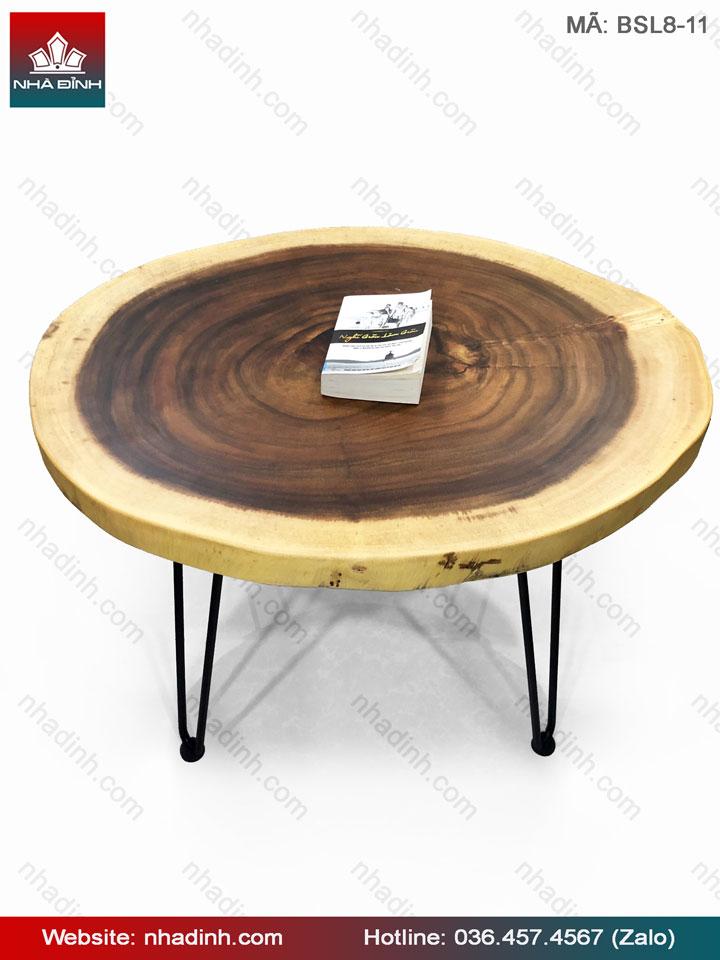 Bàn Sofa gỗ Me Tây nguyên khối