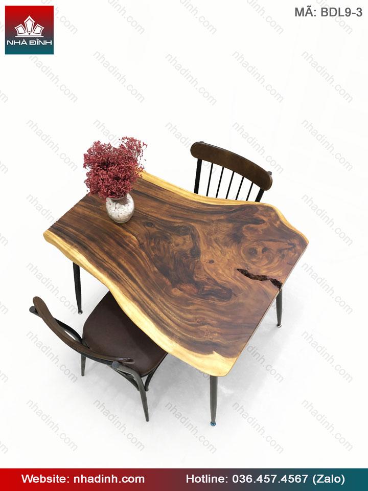 Bàn ăn gỗ Me Tây 2 chỗ ngồi