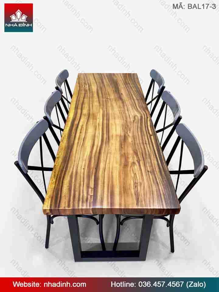 Bàn gỗ Me Tây cho nhà hàng