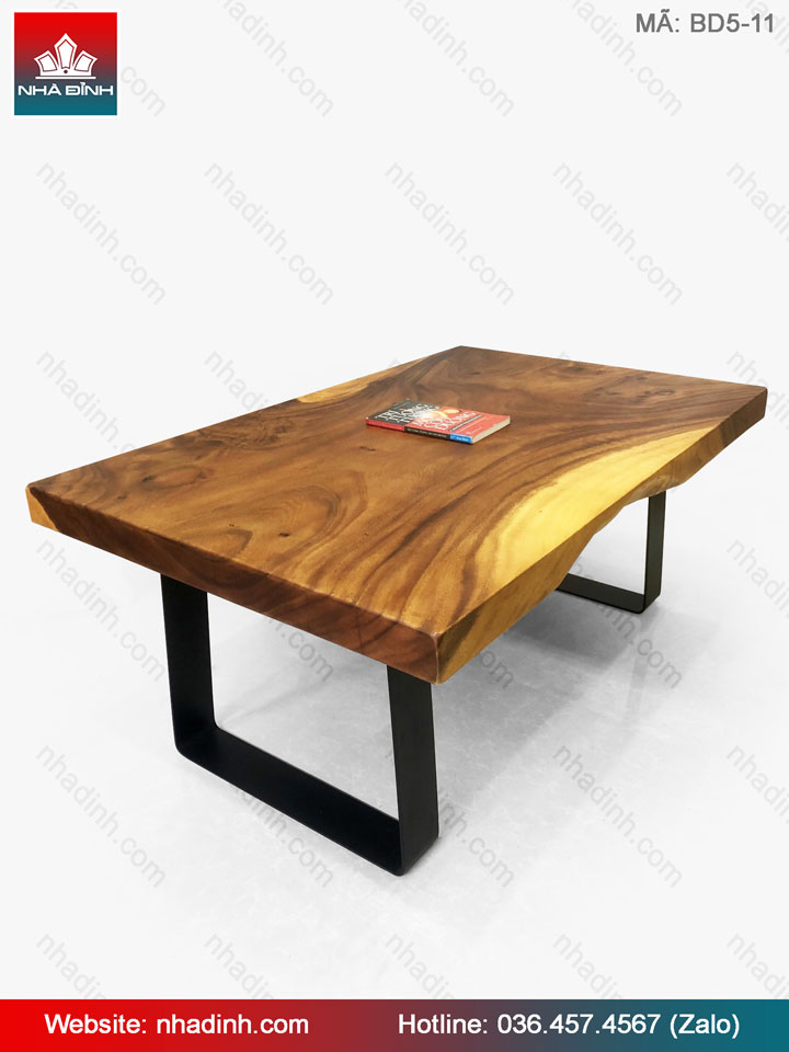 Bàn sofa nguyên khối gỗ Me Tây