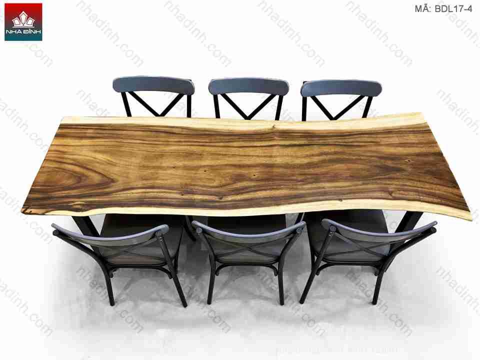 Không gian nhà hàng sang trọng với gỗ bộ bàn ghế gỗ Me Tây