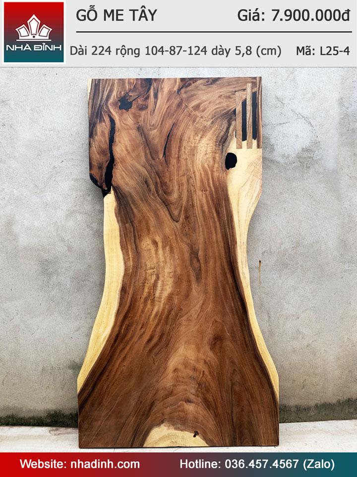 Mặt bàn gỗ Me Tây nguyên tấm